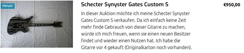 Shecter Synyster Gates Custom S